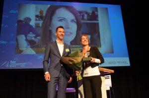 Oud-winnaar Daan Bielveld naast de kersverse winnaar Miranda de Koning