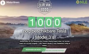Mister Green wil tijdig de Model 3 voor Nederland reserveren