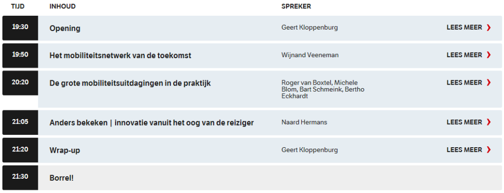 NRC Live Mobiliteit: slimme technologie @ Jaarbeurs Utrecht