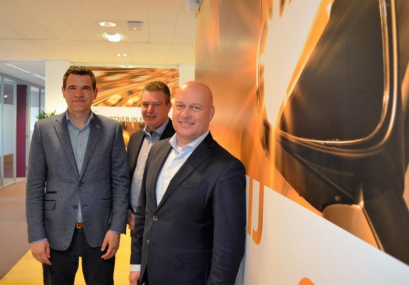 René Louter (r) met Werner Boldewijn en Mark van den Eijnden (l)