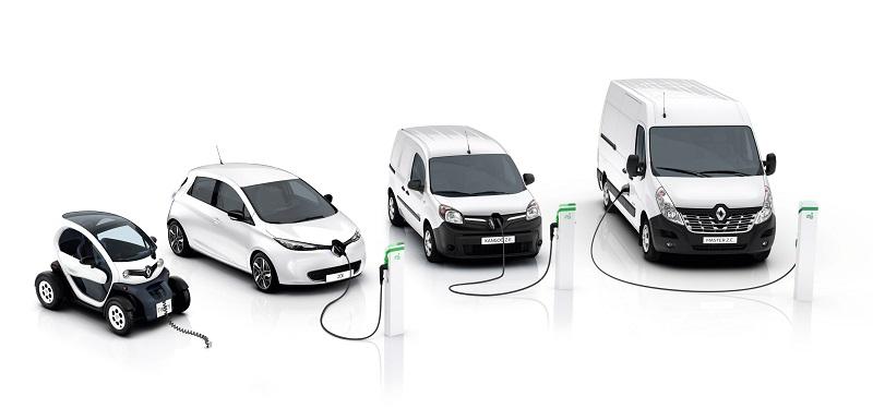 Renault Pro+ breidt het aanbod van elektrisch aangedreven bedrijfswagens uit naar drie: de Twizy Cargo (geïntroduceerd in 2014), de nieuwe Kangoo Z.E. en de Master Z.E.